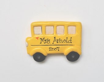 Personalized School Bus Christmas Ornament /bus ornament/education/bus driver