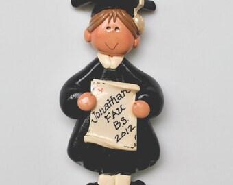 Personalized Boy Graduate Christmas Ornament