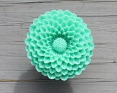 Flower Drawer knobs - Cabinet Knobs Mum in Adam Green LARGE, more COLORS (RFK12)