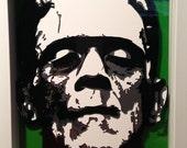 3D Frankenstein Portrait with frame
