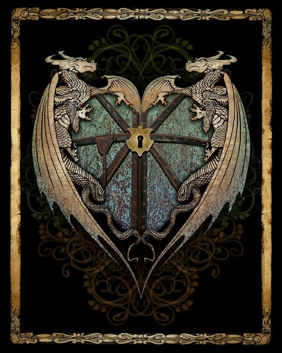 The Guardian Heart -  Art Print by Brian Giberson