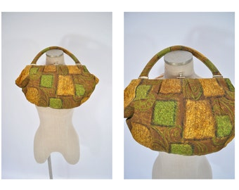 vintage mod purse small bag vintage bag 1960s fabric