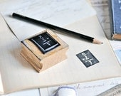 vintage french rubber stamp - back to school