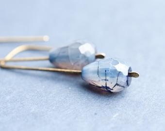 Modern Earrings Placid Blue Agate Urban Minimalist Geometric Jewelry organic minimal chic eco friendly