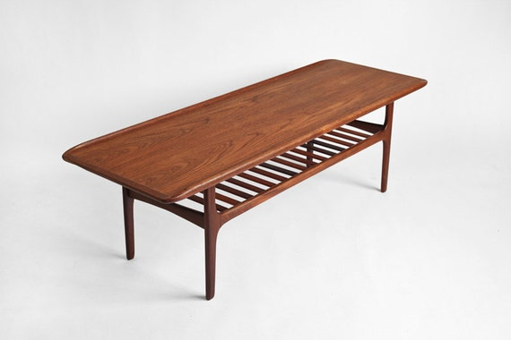 Items similar to Vintage Teak Surfboard Coffee Table - Mid ...