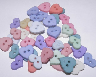 Hearts - Ice Cream Soda Buttons