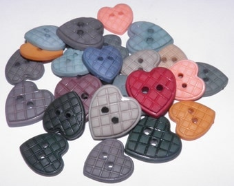 ON SALE  Patchwork Hearts Buttons