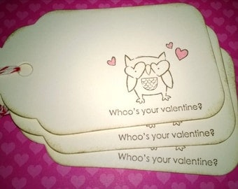Owl Valentines Tags, Valentine Treat Bag Tags, Valentines, Owl Tags