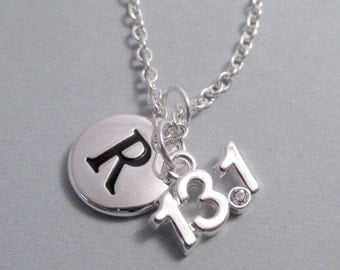 13.1 Half Mile Runner Silver Plated Charm Jewelry Supplies