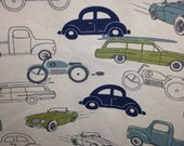 X-Large Sweet Bobbins Hanging Wet Bag - Retro Cars - 18x22 - SEAM SEALED - Boutique Quality