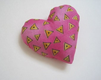 Heart Cat Toy Filled with Organic Catnip - Fuchsia