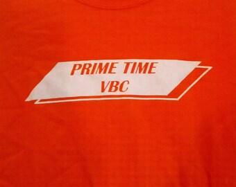Prime Time VBC tshirt shirt 80s  1980s small men punk grunge boho orange