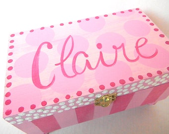 Personalized Hand Painted Jewelry Box