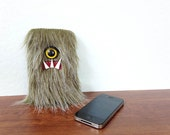 Hemp Frost Cyclops Monster iPhone Sleeve (One Yellow Eye)