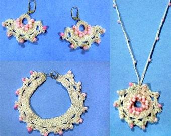 A Little Twist Jewelry Set - PDF Crochet Pattern - Instant Download
