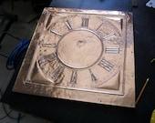 Custom Hammered Copper Clock Face