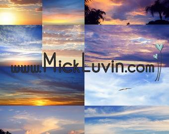 MickLuvin Set 2: 10 Real Sky JPGS Overlays - Photography Tool Enhance Portraits - Use Overlays