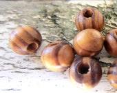 100 natural wood beads,large hole beads, Burly wood beads, diy jewelry wood beads B616Y SR1-6-2