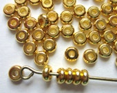 Spacer beads 150 gold beads metal diy jewelry supply 4mm x 2mm rondelle beads EC8-X-3