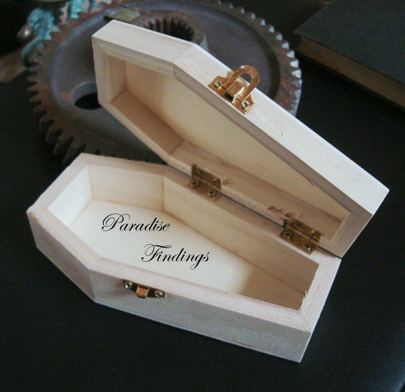 1 Coffin Wood Box Stash Jewelry Gift Endless Ideas For This Beauty DIY Gothic Project