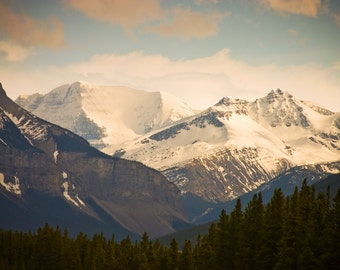 Jasper Mountains - Canada Fine Art Print