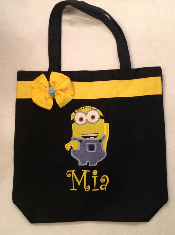 Personalized Tote Bag Personalized Tote Minion Tote Bag