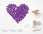 1000 pcs Round Faceted Flat Back Rhinestone 3mm Amethyst Violet Dark Purple FREE shipping US Embellishment Nail Art LR046
