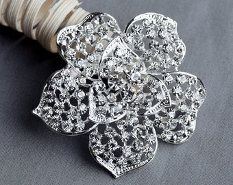 Rhinestone Brooch Embellishment Crystal Pearl Wedding Brooch Bouquet Cake Invitation Decoration Hair Comb Shoe Clip BR316