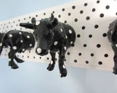 Upcycled Toy Wall Peg Rack with Spotted Cow Clothes Hooks