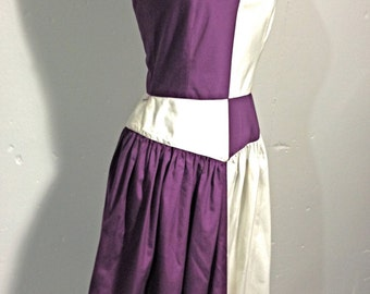 Vintage 1980s Color Block Halter Sundress