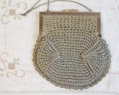Vintage Silver Crocheted Italian Evening Purse