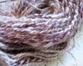 Candied Violet 128 yards 2.75oz Double-Ply Hand Spun Art Yarn Alpaca