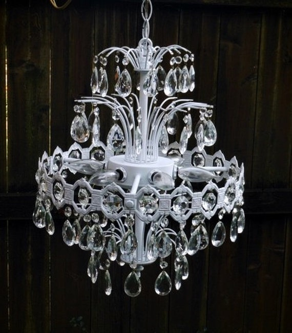 Trendy Chandeliers: French Paris Shabby Chic Chandelier SALE