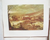 Vintage Fine Art Print. Momper. Pais Nevado. Museo Del Prado Madrid Spain. Direct Lithographic Reproduction. Authenticity Sticker. Numbered.