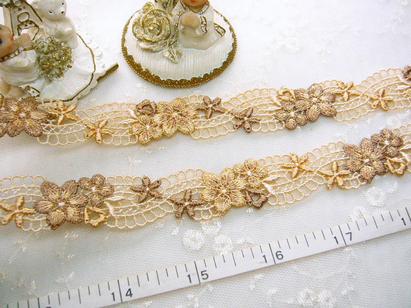Embroidered trim flower girls