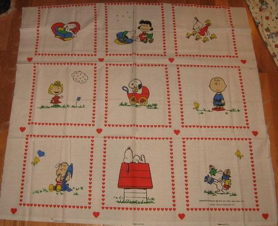 Peanuts Fabric Panel Charlie Brown Charles Schultz