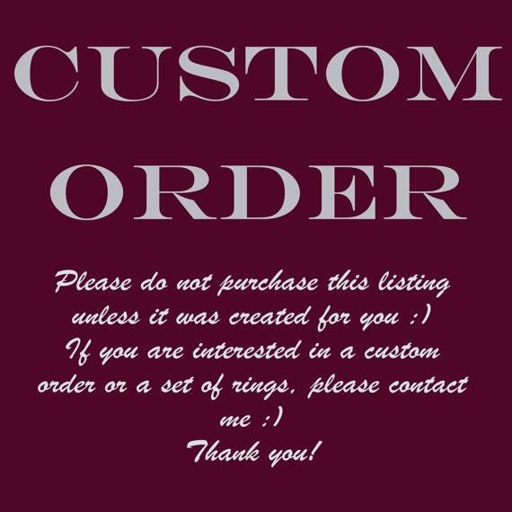 Custom Order - Details in Description