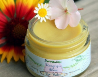 Organic Eye Balm - Natural Vegan Moisturizer - with Rosehip seed oil, Shea and Tamanu. BIG 1 oz