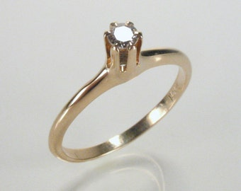 Antique Diamond Engagement Ring - Single Cut Diamond