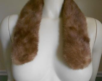 Vintage 1950s  Mink Fur Collar / Mink Scarf