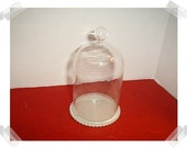 Glass Cloche with Cardboard Base/ Craft Supplies*