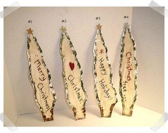 Christmas Pine Tree Magnet/  Muslin Fabric/Holiday Decor/ Handmade /Only Tree #4 left**