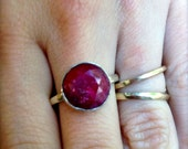 SALE: Ruby Love Ring Size 5.5