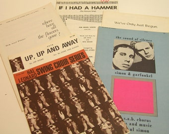 Vintage Popular Songs Choral Music 1960s
