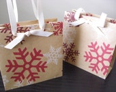 Half Price Sale - Christmas Snowflake Mini Gift Bag (set of 10)