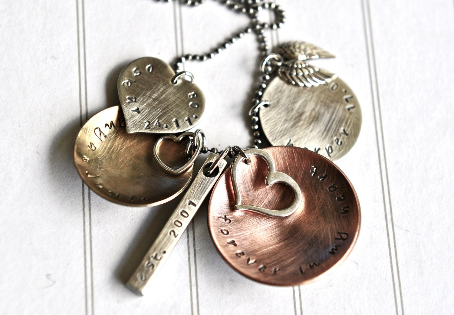 personalized jewelry mothers day necklace hand stamped. Black Bedroom Furniture Sets. Home Design Ideas