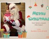 Sweet Santa Shop Christmas Card