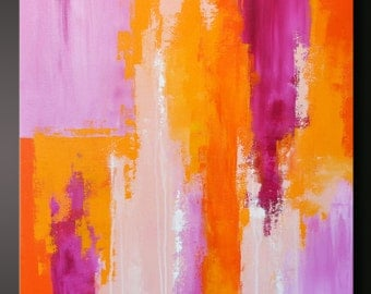 Sorbet 6- 30 x 24 - Abstract Acrylic Painting - Contemporary - Similar painting published in Southwestern Homes, Su Casa magazine, 2013