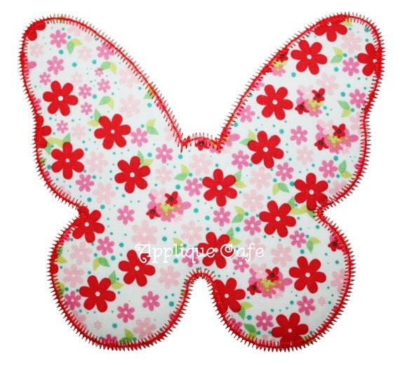 Zig zag butterfly machine embroidery applique design