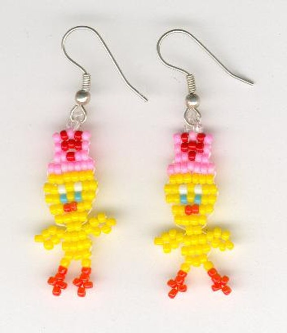 items similar to valentines day beaded tweety bird